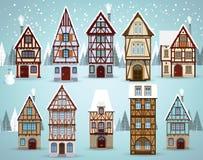 El viejo europeo contiene invierno libre illustration