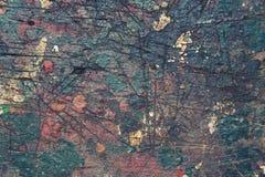 El viejo fondo de madera filtrado colorido de la textura salpicó con color Imagen de archivo libre de regalías