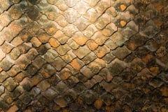 El viejo fondo rústico del modelo del tejado de teja de la terracota Fotografía de archivo libre de regalías