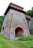 El viejo fundidor, ciudad Adamov, República Checa fotos de archivo