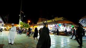 El viejo Ganjali Khan Bazaar en Kermán, Irán metrajes