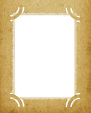 El viejo Grunge vertical envejecido de la foto del borde texturizó la postal manchada fondo vacío retro de la página de la carter Fotos de archivo