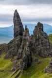 El viejo hombre de Storr, Skye Imagenes de archivo