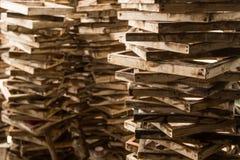 El viejo marco del vintage, madera plateó el fondo imágenes de archivo libres de regalías
