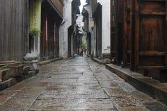 El viejo paso de la ciudad Imagenes de archivo