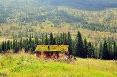 El viejo shieling, Noruega Imágenes de archivo libres de regalías
