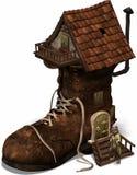 El viejo shoehouse ilustración del vector