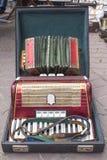 El viejos acordeón y apretón alemanes Imágenes de archivo libres de regalías