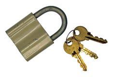 El viejos bloqueo y claves Fotos de archivo libres de regalías