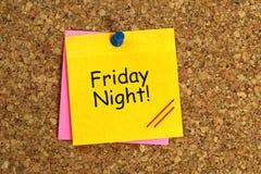 El viernes por la noche pegajoso imágenes de archivo libres de regalías