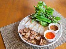 El vietnamita asó el cerdo con fideos imagen de archivo libre de regalías