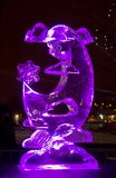 El vigésimo festival internacional de la escultura de hielo en el Jelgava Letonia Fotografía de archivo