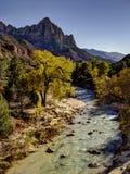 El vigilante, Zion National Park Imagen de archivo libre de regalías