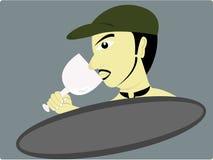 El vino de la bebida ilustración del vector