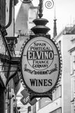 El-Vino - internationella viner i London - LONDON - STORBRITANNIEN - SEPTEMBER 19, 2016 Royaltyfria Foton
