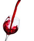 El vino se vierte en un vidrio Imagen de archivo libre de regalías