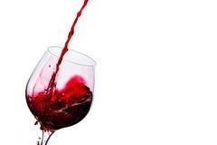 El vino se vierte en un vidrio Imagen de archivo