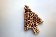 El vino tapa el cursor del ratón con corcho desde arriba imagen de archivo libre de regalías