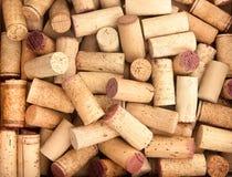 El vino tapa el fondo con corcho Imágenes de archivo libres de regalías