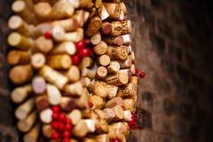 El vino tapa la colección con corcho fotografía de archivo libre de regalías