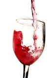 El vino vierte fotos de archivo libres de regalías