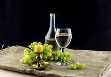 El vino y las uvas Foto de archivo