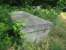 El vintage abandonó el sarcófago en el cementerio de Budapest, Hungría foto de archivo libre de regalías