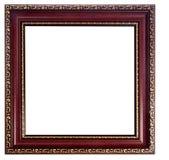 El vintage adornó el marco vacío de madera Imagen de archivo
