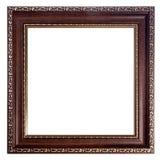 El vintage adornó el marco vacío de madera Imágenes de archivo libres de regalías