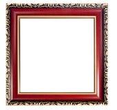 El vintage adornó el marco vacío de madera Fotos de archivo