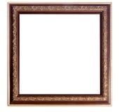 El vintage adornó el marco vacío de madera Foto de archivo libre de regalías