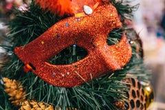 El vintage antiguo o la Navidad retra juega el fondo de la decoración Imágenes de archivo libres de regalías