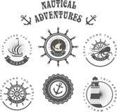 El vintage badges el mar ilustración del vector