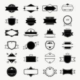 El vintage badges, etiqueta, los sellos y los marcos diseñan la colección ilustración del vector