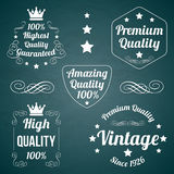 El vintage badges la colección Foto de archivo