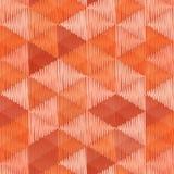 El vintage colorea el modelo inconsútil de la materia textil de los triángulos Imágenes de archivo libres de regalías