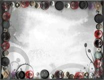 El vintage del Grunge abotona el fondo herbario de las hojas Fotos de archivo