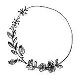 El vintage del vector floral enrruella Marco floral Imágenes de archivo libres de regalías