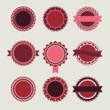 El vintage del vino badges plantillas Imagen de archivo