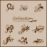 El vintage encrespa la colección stock de ilustración