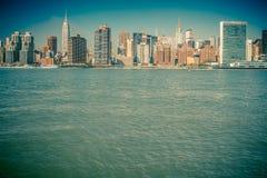 El vintage entonó NYC Foto de archivo libre de regalías
