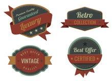 El vintage etiqueta la colección del modelo. Imagen de archivo libre de regalías