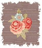 El vintage florece la invitación Foto de archivo libre de regalías