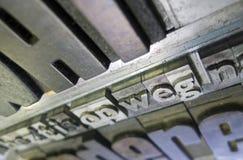 El vintage pone letras a ABC Foto de archivo