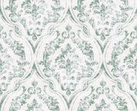 El vintage prospera vector adornado del modelo Textura real victoriana Vector decorativo del diseño de la flor Decoraciones verde stock de ilustración