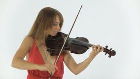 El violinista juega emocionalmente en su musical almacen de video