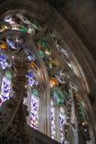 El vitral del monasterio de Batalha, Portugal Imagenes de archivo