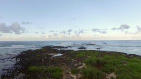 El volar al borde de Mauritius Island metrajes