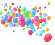 El volar colorido de los globos Foto de archivo libre de regalías