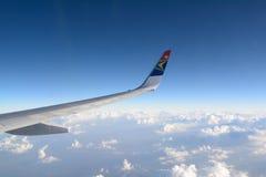 El volar con South African Airways Fotografía de archivo libre de regalías